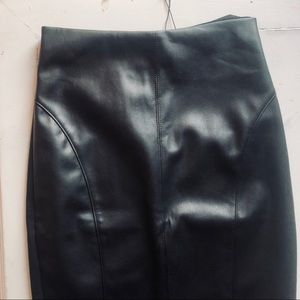 NWT high waisted express faux leather pencil skirt